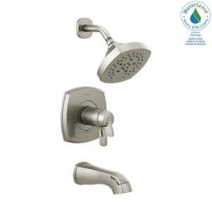 Stryke TempAssure 1-Handle Wall Mount 5-Spray Tub and Shower Faucet Trim Kit in Stainless (Valve Not Included)