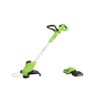 11 in. 24-Volt Battery Cordless TORQDRIVE String Trimmer with 2.0 Ah USB Battery and Charger