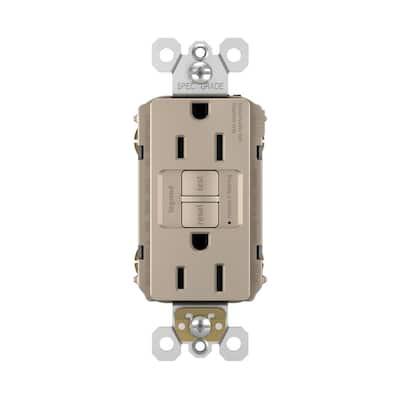 radiant 15 Amp 125 Volt Tamper Resistant Self-Test GFCI Duplex Outlet, Nickel