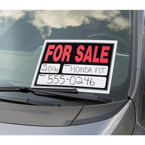 VEHICLE FOR SALE Signs 2x Large A3