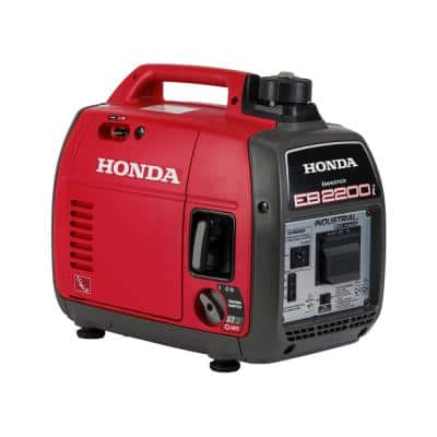2,200-Watt Super Quiet Recoil Start Gasoline Powered Industrial Portable Inverter Generator with Full GFCI Protection