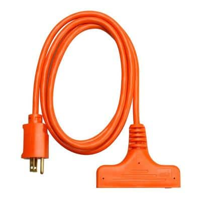 6 ft. 14/3 SJTW Tri-Source (Multi-Outlet) Outdoor Medium-Duty Extension Cord