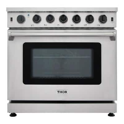 """36"""" 6.0 Cu. Ft Single Oven Professional Gas Range in Stainless Steel"""