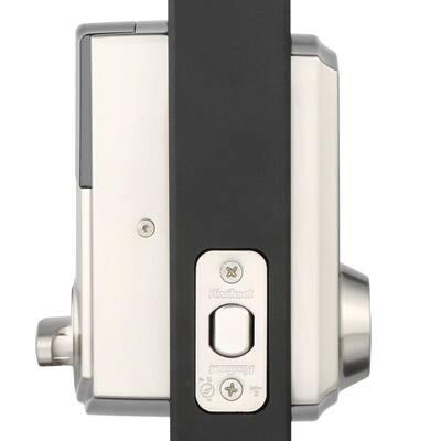 Z-Wave SmartCode Touchscreen Satin Nickel Single Cylinder Electronic Deadbolt featuring Juno Hall/Closet Knob