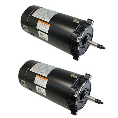 1 HP Single Speed C-Flange Swimming Pool/Spa Replacement Motor Pump (2-Pack)