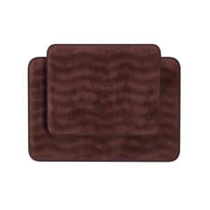 2-Piece Chocolate Memory Foam Bath Mat Set