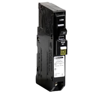 QO 20 Amp Single-Pole Plug-On Neutral Combination Arc Fault Circuit Breaker (12-pack)