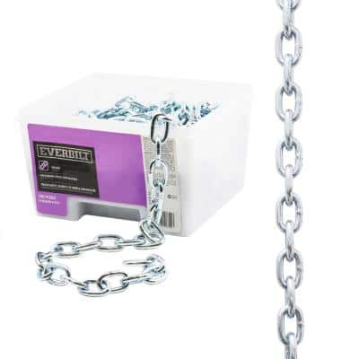 5/16 in. x 50 ft. Grade 43 Zinc Plated Steel High Test Chain