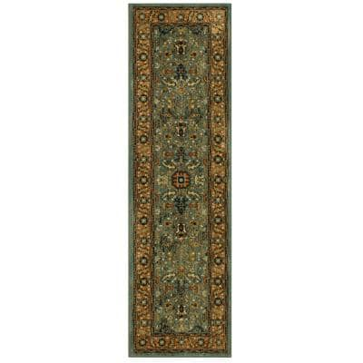 Mariah Aquamarine 2 ft. x 7 ft. Runner Rug