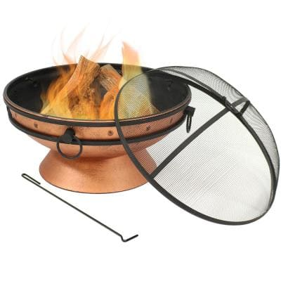 Copper Fire Pits Outdoor Heating The Home Depot