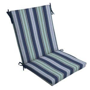 20 x 44 Sapphire Aurora Stripe Outdoor Dining Chair Cushion