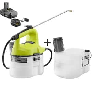 ONE+ 18V Cordless Battery 1 Gal. Chemical Sprayer with Extra Accessory Tank, 1.3 Ah Battery, and Charger