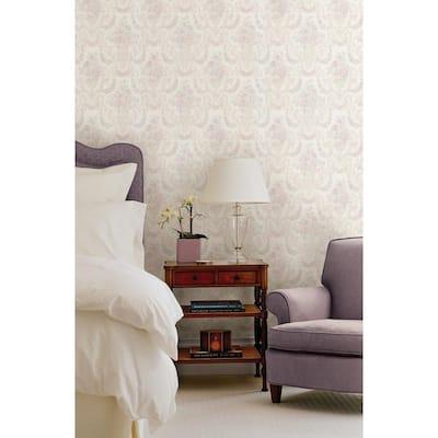 Phebe Lavender Floral Urn Wallpaper