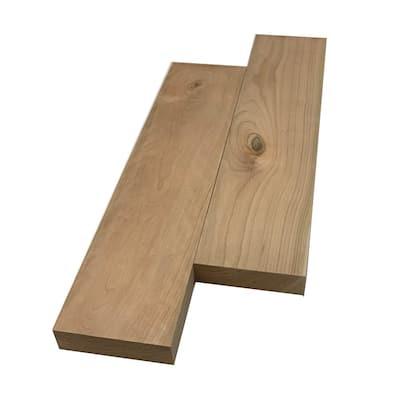 2 in. x 6 in. x 2 ft. Cherry S4S Board (2-Pack)