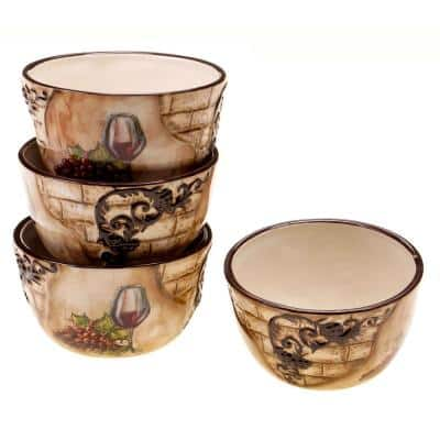 Tuscan View Ice Cream and Cereal Bowl (Set of 4)