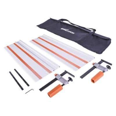 55 in. Circular Saw Track with Clamps, Glide Strips and Carry Bag
