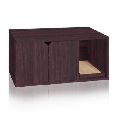 Eco zBoard Espresso Modern Cat Litter Box Enclosure Furniture