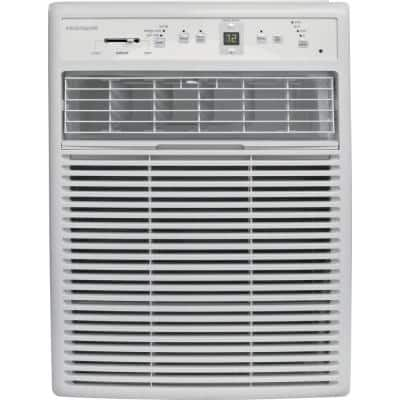 10,000 BTU Window Air Conditioner in White with Electronic Control, Slider/Casement