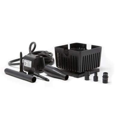 Small Container Fountain Kit with 90 GPH Submersible Fountain Pump