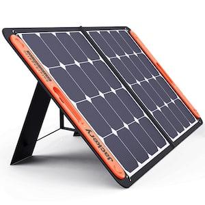 SolarSaga 100-Watt Portable Solar Panel for Explorer 290/550/880/1000/1500 Power Station with built-in 2 USB Outputs