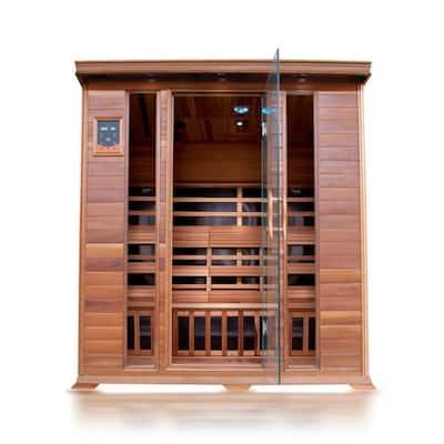 HL400K Sequioa 4-Person Cedar Infrared Sauna