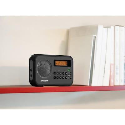 AM/FM/ Stereo Portable Digital Radio Alarm Clock with Protective Bumper