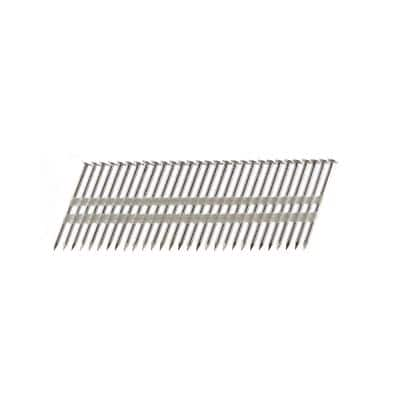 3 in. x 0.131 Plastic Collated Stainless Steel Ring Shank Framing Nails (500 per Box)