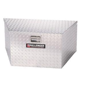 34.50 in Diamond Plate Aluminum Trailer Tongue Truck Tool Box, Silver