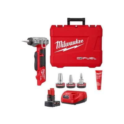 M12 FUEL 1/2 in. - 1 in. PEX Expansion Tool Kit with RAPID SEAL ProPEX Expander Heads & Battery/Charger