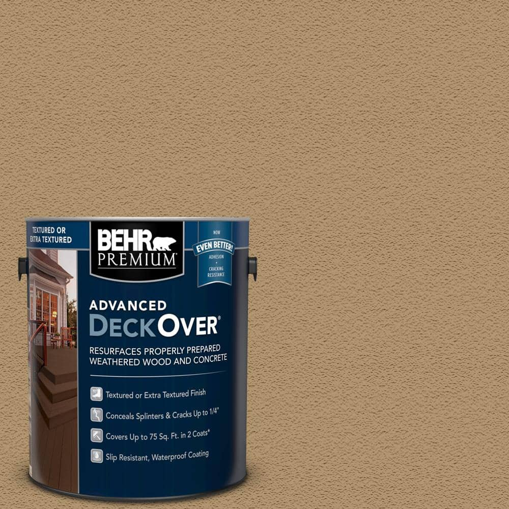 BEHR PREMIUM ADVANCED DECKOVER 1 gal. #SC-145 Desert Sand Textured Solid Color Exterior Wood and Concrete Coating
