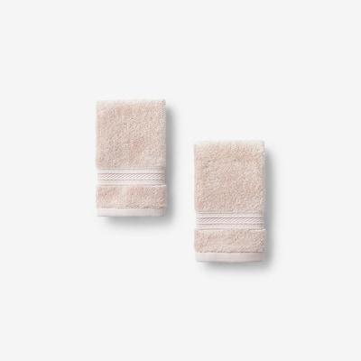 Cotton TENCEL Lyocell Blush Solid Wash Cloth (Set of 2)