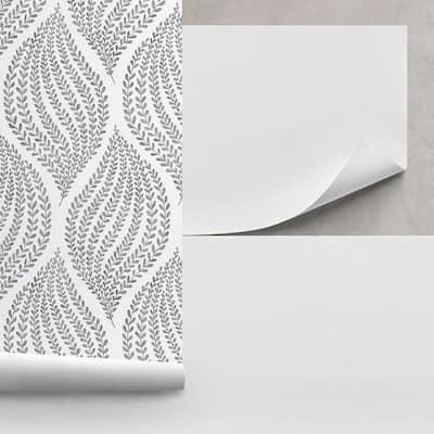 Unpasted Liner White Wallpaper Sample