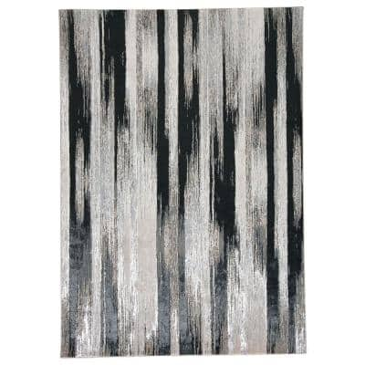 Orin Black/Silver 8 ft. x 11 ft. Abstract Area Rug