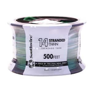 500 ft. 14-Gauge Green Stranded CU THHN Wire