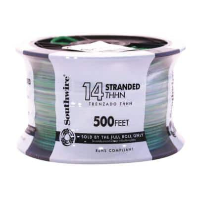 500 ft. 14-Gauge Green Stranded CU THHN Wire
