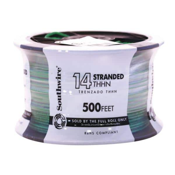 Building Wire Green THHN 2500ft 14 AWG