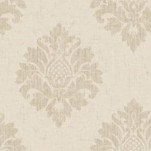 TextuRed Damask Stone Vinyl Strippable Roll (Covers 56 sq. ft.)