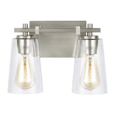 Mercer 2-Light Satin Nickel Bath Light