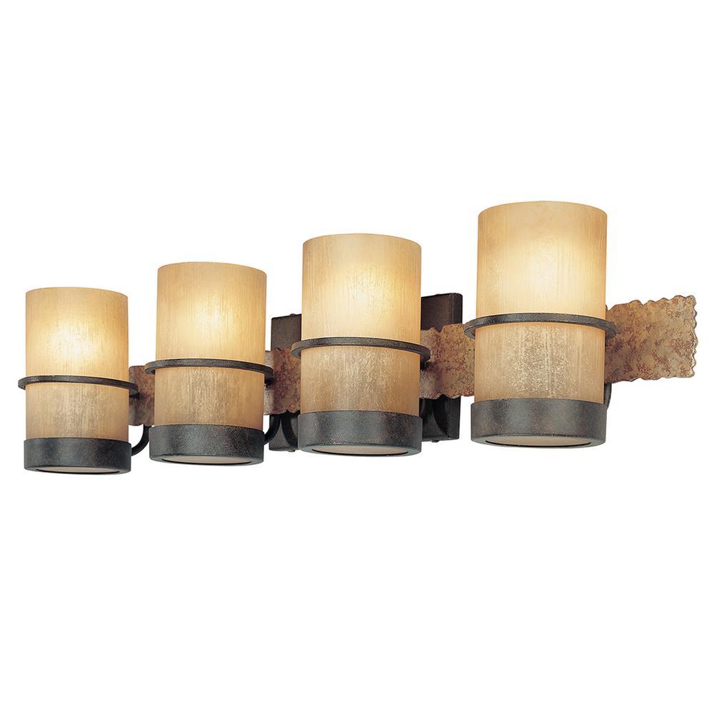 Bamboo 4-Light Bamboo Bronze Vanity Light