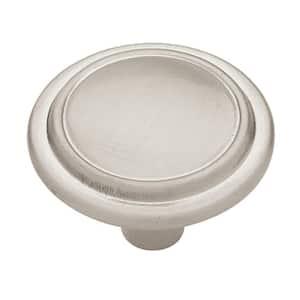 Top Ring Round 1-1/4 in. (32 mm) Satin Nickel Cabinet Knob