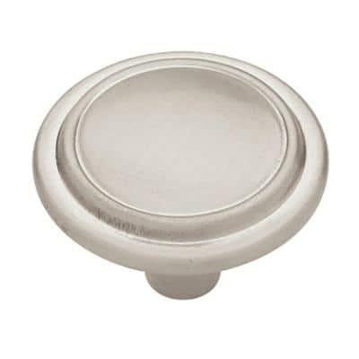 Top Ring Round 1-1/4 in. (32 mm) Satin Nickel Cabinet Knob