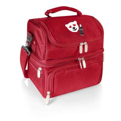 3 Qt. 8-Can Coca-Cola Pranzo Lunch Tote Cooler in Red-Emoji Design
