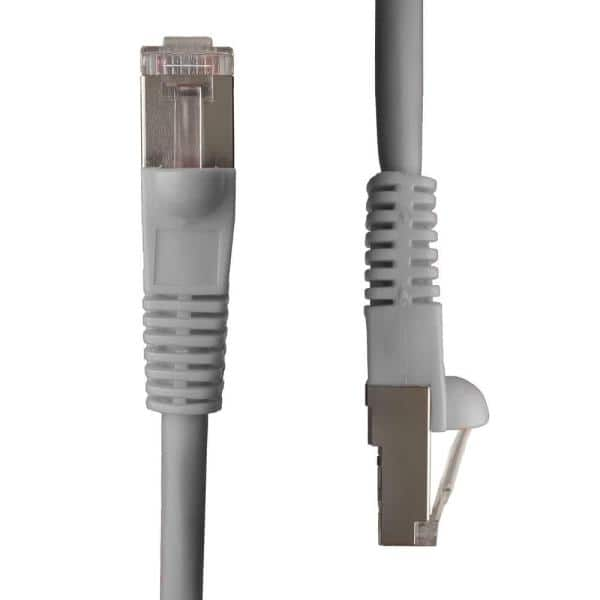 Ntw 25 Ft Cat5e Snagless Shielded Stp Network Patch Cable Gray 345 S5e 025gy The Home Depot