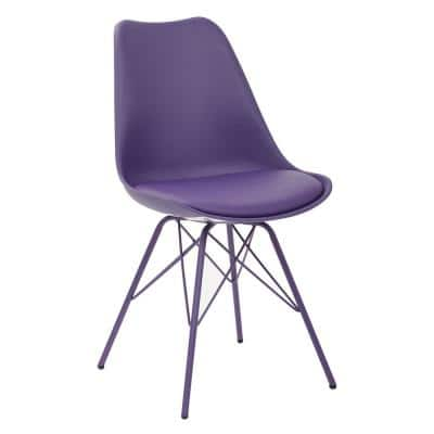 Emerson Purple Side Chair with 4-Leg Base (2 per Pack)
