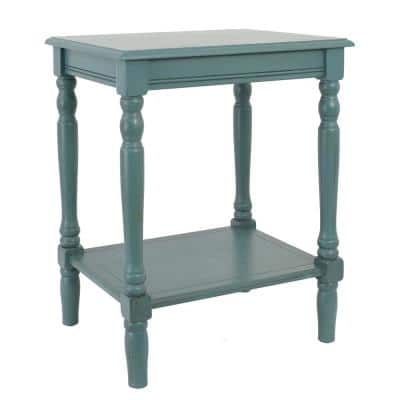 Simplify Blue End Table
