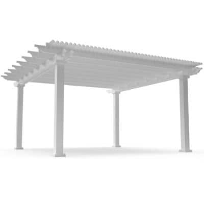 Modern Pergola-Kit Traditional 16 Ft. x 16 Ft. Freestanding Pergola with 7 In. Square Posts