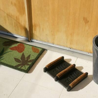 Traditional 12 in. x 16 in. Coir Boot Scraper Door Mat