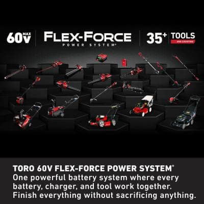 Flex-Force 24 in. 60-Volt Max Lithium-Ion Cordless Hedge Trimmer - 2.5 Ah Battery and Charger Included