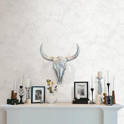 Innuendo White Marble White Wallpaper Sample
