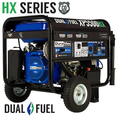 5500/4500-Watt Dual Fuel Electric Start Gasoline/Propane Portable Generator with CO Alert Shutdown Sensor